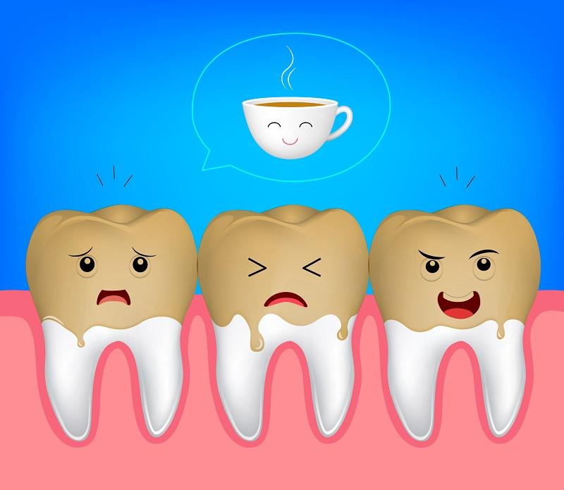 رنگ چای بر روی دندان